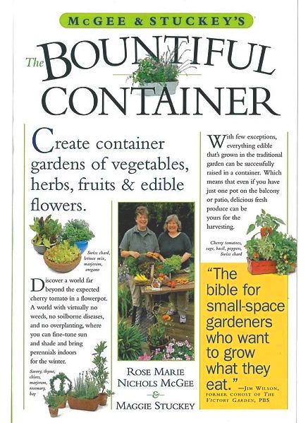 The Bountiful Container Book by Maggie Stuckey